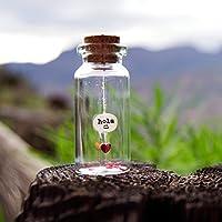 Hola :) Mensaje en una botella. Miniaturas. Regalo personalizado. Divertida postal.