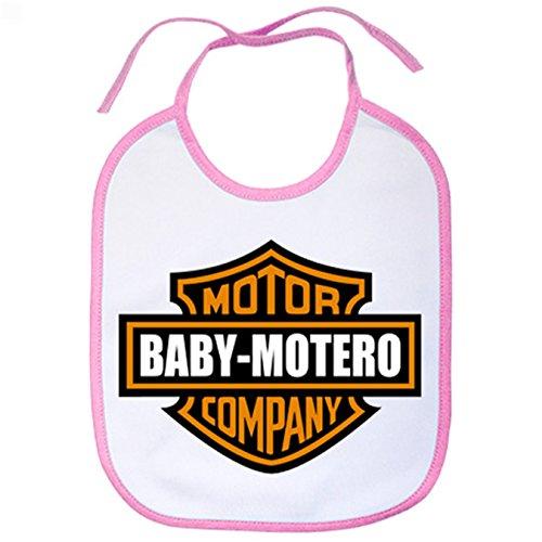 Babero Baby Motero - Rosa