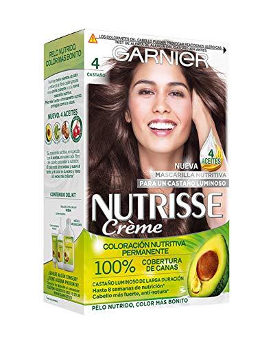Garnier Nutrisse Creme coloración permanente con mascarilla nutritiva de cuatro aceites - Castaño...