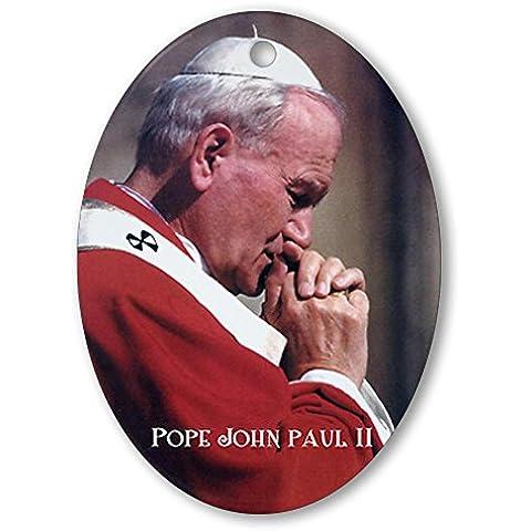 CafePress–Papa Giovanni Paolo II–Ovale vacanza decorazione natalizia - Fare Christian Ornamenti