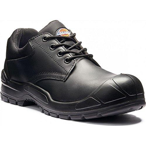 Dickies Trenton traspirante in pelle punta in acciaio, scarpe di sicurezza Nero