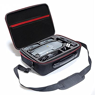 Rantow Waterproof Hardshell Case Box For DJI Mavic Pro Drone Black Hard Shoulder Bag Carry Case Suitcase