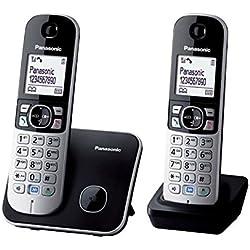 Panasonic PANADTTG6812G Téléphone numérique avec LED Sonnerie Gris