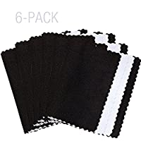 Deluxe Microfiber Jewelry Cleaning & Polishing Cloth w/Dual Layers - 6 Pack