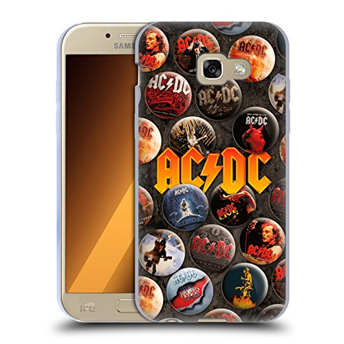 Official Acdc Acdc Logo Button Pins Soft Gel Case For Samsung Galaxy A5 2017
