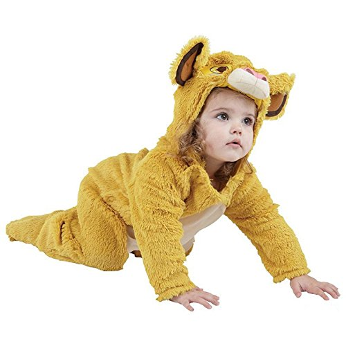 Kinder Lion King Kostüme (Rubies The Lion King Simba Kleinkinder Maskenkostüm - Gelb,)