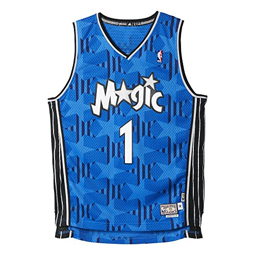 adidas Herren Basketball Magic Retired Trikot, Blau, L, A46445