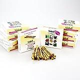 Nirdosh Beedies - 10 Pakete von den Zigaretten mit Ayurveda Kräutern - frei von Nikotin, Tabak, Papier - OHNE FILTER