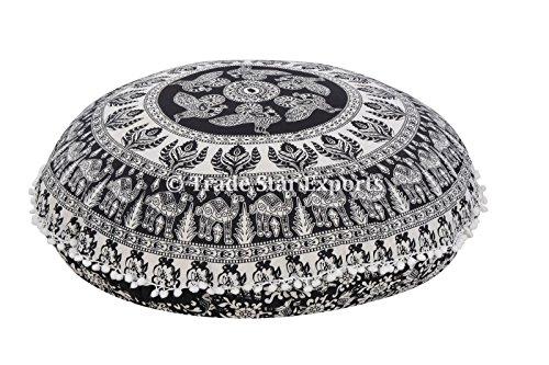 Runde Bodenkissen, Indische Kopfkissenbezug, Dekorative Mandala Werfen Kissen- 32