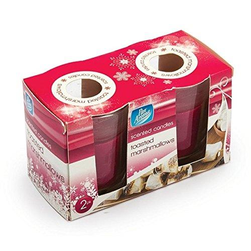 2Stück Toasted Marshmallow Glas Kerzen