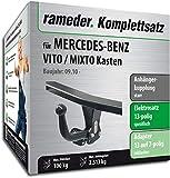 Rameder Komplettsatz, Anhängerkupplung starr + 13pol Elektrik für Mercedes-Benz VITO/MIXTO Kasten (121745-05014-2)