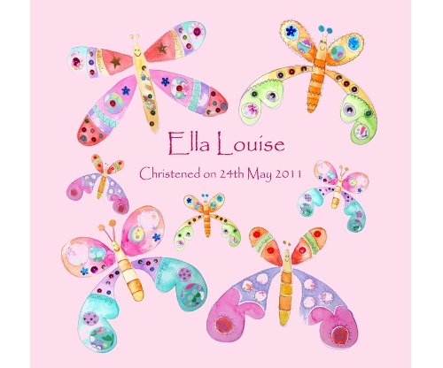 nd, Mädchen Geschenk, 1. Geburtstag Geschenk, Name auf eine Leinwand (Butterfly 1. Geburtstag Dekorationen)