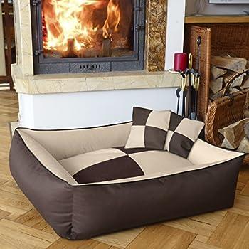 BedDog MAX QUATTRO 2en1, beige/brun, XXL env. 120x85 cm,Panier corbeille, lit pour chien, coussin de chien