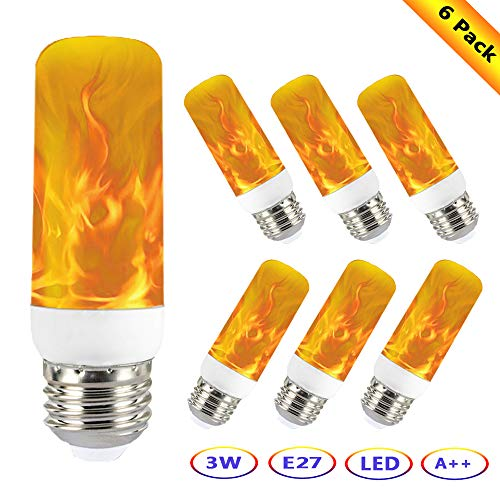 Kawer Bombilla de llama LED 3W E27 Efecto de llama Parpadeante 3...