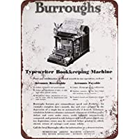 Placa metálica de Metal de Reproducción de Aspecto Vintage de Máquina de Escribir de burras,