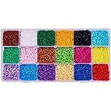 Pandahall Elite 3000pcs 2.5mm Melty perlas de perlas de mini fusible de recambios para niños Craft hacer, 18 Colors2.5mm