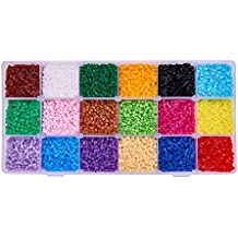 Abalorios Pandahall Elite 3000 unidades 2,5mm abalorios mini para artesanías para niños , 18 Colors2.5mm