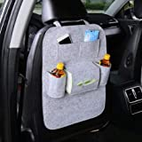 #10: Autofy Universal 7 Pocket Car Auto Seat Back Organizer Back Seat Organiser Mobile Pen Tissue Lunch Box Holder Multi Pocket Storage Hanger for All Cars (Grey)