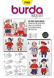 Burda Schnittmuster 7903–Puppe Kleidung & Accessoires