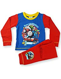 Boys Thomas The Tank Engine Race With Thomas Long Length Pyjamas Set 12 Months to 4 Years