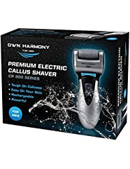 Electric Hard Skin Remover For Men by Own Harmony: USA's Best Rated Callus Remover- Rechargeable Pedicure Tools w/ 3 Coarse Rollers, Velvet-Smooth Foot Care- Professional Spa Pedi Feet File (USB Cord)