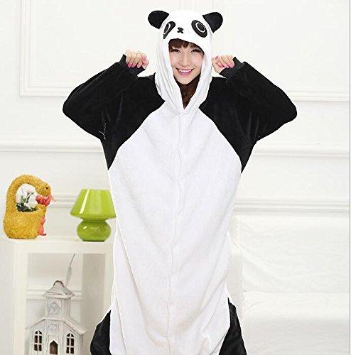 MH-RITA Großhandel Tier Stitch Einhorn Panda Bär Koala Pikachu Body nach Unisex Cosplay Kostüm Schlafanzug Nachtwäsche für Männer, Frauen, Kung Fu Panda, XL