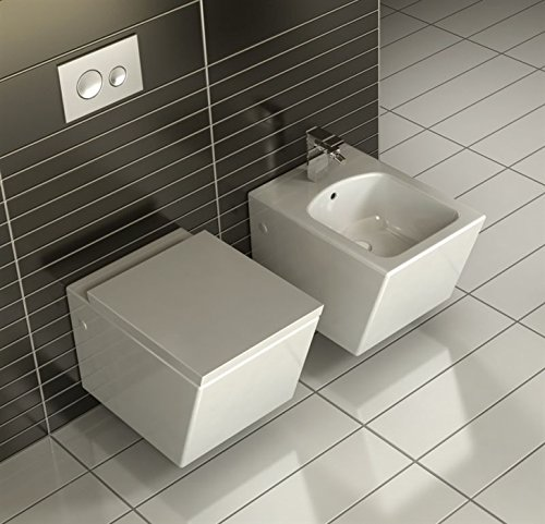 RA Hängenden weißen schön Keramikschale MODERNER Hänge-WC