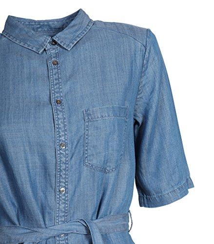 1692e000a5a441 ... SECOND FEMALE Damen Kleid Sabra aus Lyocell in Jeansblau Blue Denim
