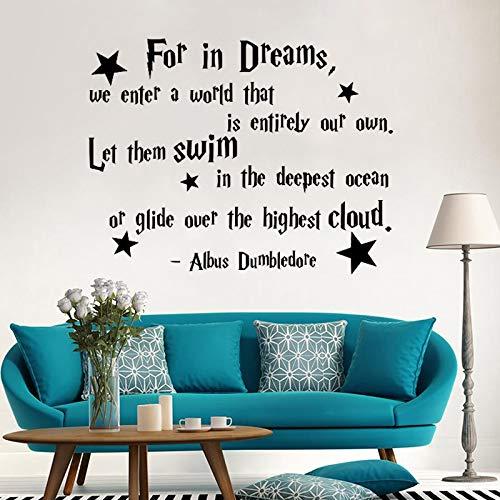 Albus Dumbledore Zitat Wandtattoo Für Kinderzimmer Britischen magischen film Vinyl Kunst Aufkleber Wandbild Kindergarten Baby Schlafzimmer Wohnkultur 42 * 54 cm (Tv Britischen)