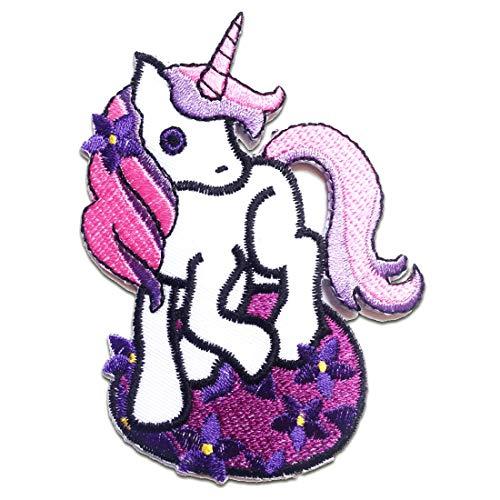 Aufnäher/Bügelbild - My Little Pony Magic Pony Sweetiebelle - pink - 7 x 9.5 cm - Patch Aufbügler Applikationen zum aufbügeln Applikation Patches Flicken - Gesticktes Pony