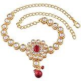I Jewels 18k Gold Plated Stone & Kundan Studded Bajuband /Vanki/Armlet/Bajubandh for Women (PB05) (Pack of 1)