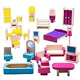 Bigjigs Toys Boîte de Jeu Patrimoine Lot de Meubles pour Maison de poupée...