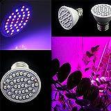 Urijk Pflanzenleuchten LED-Pflanzenlampe E27 3W mit 36 LEDs Wachstum Tageslicht