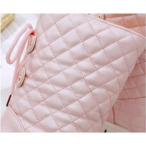 Stivali autunnali e invernali Ispessimento aumentato con calore spesso Scarpe casual da donna , 41 , pink 39