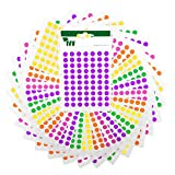 8mm Dots Stickers Tropical Set - 2450 dots - Ivy Stationery - Made in the UK - Pink, Yellow, Green, Purple and Orange dots