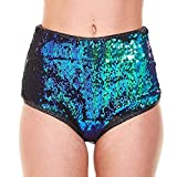 Longra? 2018 Women Club Sequins Sport Pantalones Cortos elásticos Atractivos Pantalones Cortos del Vendaje Pantalones Cortos Mujer