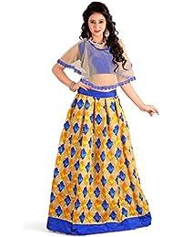 Shree Women's Silk Unstitched Lehenga Choli (SRENT006_Multi-Coloured_Free Size)