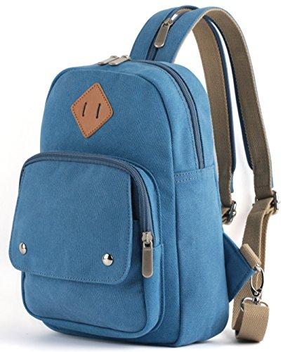 HITOP Damen Mini-Rucksack-Geldbeutel Leichte Brust Sling Umhängetasche Daypack Für Und Men Outdoor-Reisen klein blau -
