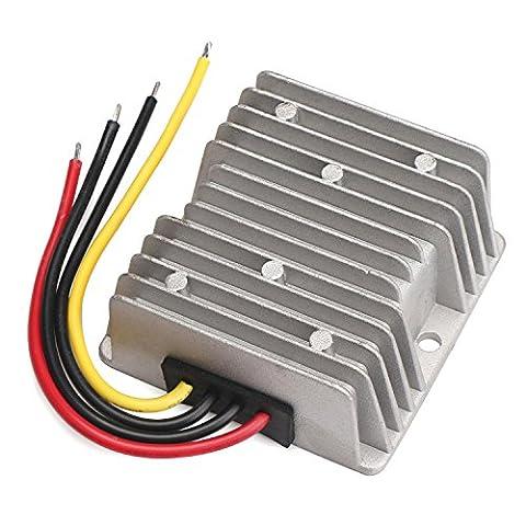 DROK® DC-DC-Auto-Energien-Adapter Buck Converter, 30-60V 12V Step Down Power Converter Voltage Regulator, 25A 300W Netzteil (Rv Alimentazione Cavi)