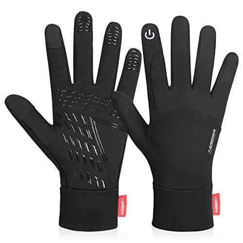 coskefy Touchscreen Handschuhe Sport Elastisch Leicht Atmungsaktiv Outdoor Gloves Damen Herren rutschfest Winddicht Winter Frühling Herbst Motorrad Fahrrad Camping Wandern Bergsteigen(Schwarz-B,L)