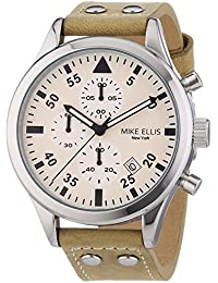 Mike Ellis New York Herren-Armbanduhr XL Chronograph Quarz Leder SL4-60111A