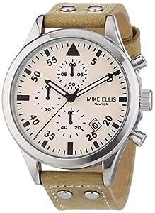 mike ellis new york herren armbanduhr xl chronograph quarz leder sl4 60111a uhren. Black Bedroom Furniture Sets. Home Design Ideas
