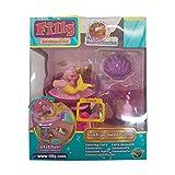 Lively Moments Filly Mermaids 1 Pferdchen auf lustige Tanzbühne / Pferd mit Swarovskistein Spielzeug / Spielfigur Mermaid mit Gelbem Schwanz