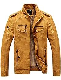 factory price 00e20 7198d Amazon.it: giacca di pelle uomo - Giallo / Giacche / Giacche ...