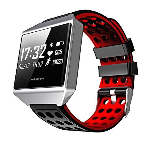 """Teepao Fitness Activity Tracker Armbanduhr, große 1.3"""" OLED-Bildschirm Armband mit Herzfrequenz Monitor, Blutdruck, Zählen, Kalorien Schrittzähler Wasserdicht IP67 Smartwatch für Android iOS Handys"""