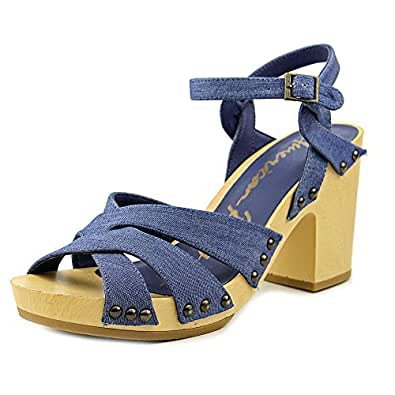 American Rag Womens Cassidy Open Toe Casual Strappy Sandals, Denim, Size 5.0 US