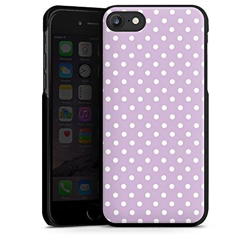 Apple iPhone X Silikon Hülle Case Schutzhülle Punkte Flieder Polka Hard Case schwarz
