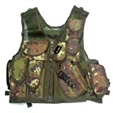 GILET TATTICO CORPETTO MIMETICO TACTICAL VEST VEGETATO ITALIANO PER SOFTAIR NEW
