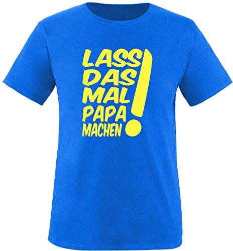 EZYshirt® Lass das mal den Papa machen Herren Rundhals T-Shirt Royal/Gelb