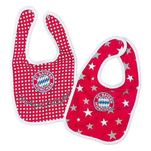 München FC Bayern Baby Lätzchen 2er Set FCB - Plus Lesezeichen I Love